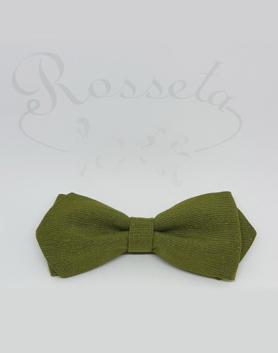 Pajarita verde oliva