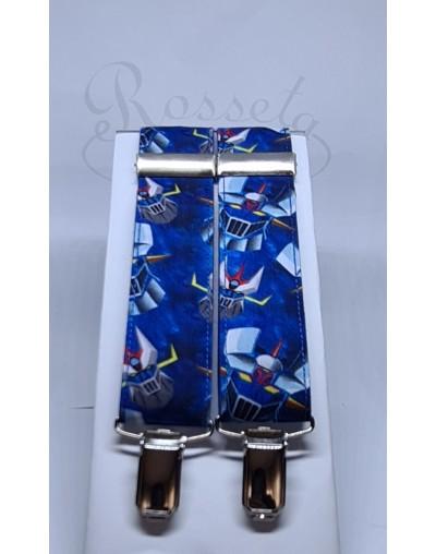 Corbata azul marino con detalles en blanco